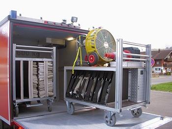 Mehr Kippsicherheit und weniger Rollwider-stand: neuer Rollcontainer von Günzburger Steigtechnik. Foto: Günzburger Steigtechnik