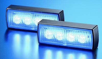 """Neue Frontblitzer von Hella: """"BSN-LED"""" mit jeweils vier Power-LED. Foto: Hella"""
