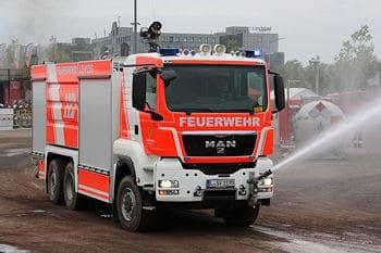 Neues GTLF für die Feuerwehr Leipzig. Foto: Michael Klöpper