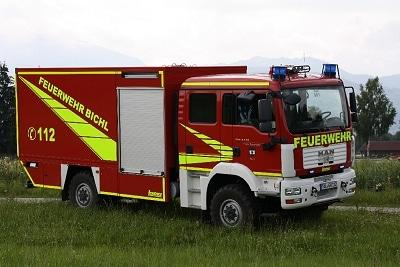 Die FF Bichl erhielt in 2009 einen GW-L2 von MAN mit Lentner-Aufbau. Foto: Hermann Spanner/Feuerwehr