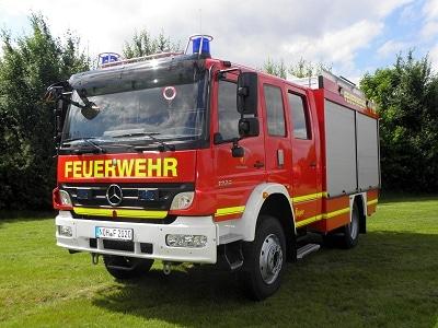 Das neue LF 20/16 der FF Nordhorn kommt von Ziegler und ist auf einem Mercedes Atego 1429 AF aufgebaut. Foto: Holger Schmalfuß/Feuerwehr