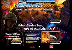 Screenshot der Emergency 2012-Seite.