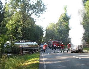 Tödlicher Unfall bei Langeloh im Kreis Harburg. Foto: Polizei