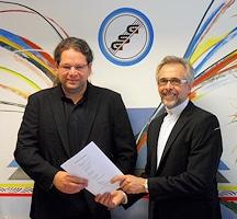 Geschäftsführer von GSG: Klaus und Kai Wollwert (von rechts). Foto: GSG Geilenkothen