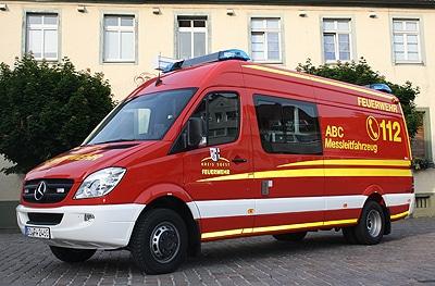 Messleitfahrzeug der Feuerwehr Werl. Foto: Korte