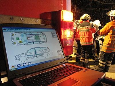 "Rettungsleitfaden im ""Crash Recovery System"". Foto: Klöpper"