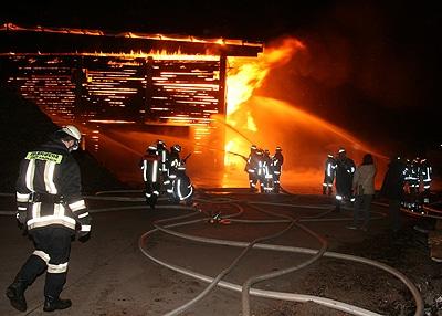 Großbrand bei Kronach. Foto: Feuerwehr