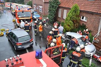 Ein zehnjähriges Mädchen starb bei diesem Unfall in Hollern-Twielenfleth (Kreis Stade). Foto: Polizei