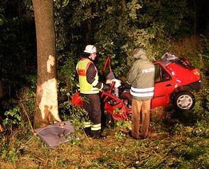 In diesem Ford Fiesta starb eine 20-jährige Feuerwehrfrau. Foto: Peter Bestenreiner