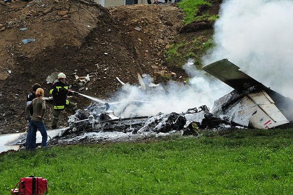 Flugzeugabsturz bei Hirschbach  (Österreich). Foto: Foto-Kerschi