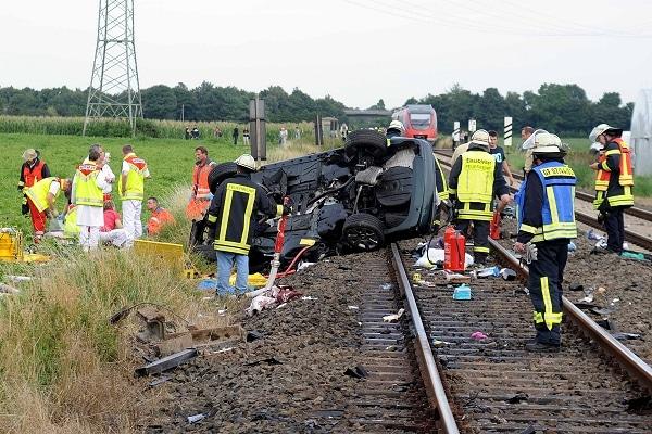 """Tödlicher Unfall am Bahnübergang. Foto: """"Die Unfallakte"""""""