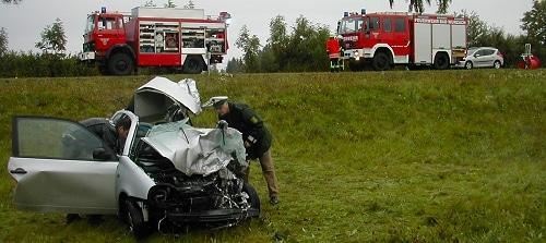 Zwei Tote nach Frontalcrash. Foto: Bad Wurzach
