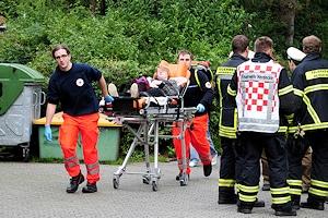 Massenanfall von Verletzten in Gevelsberg. Foto: Frank Bock