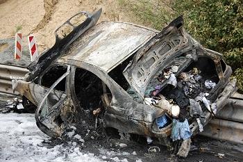 Pkw ausgebrannt. Foto: Polizei
