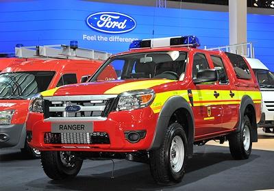 Auf der IAA zu sehen: GW-Hochwasser, für die Feuerwehr Dortmund, von Pütting auf Ford Ranger aufgebaut. Foto Rüffer