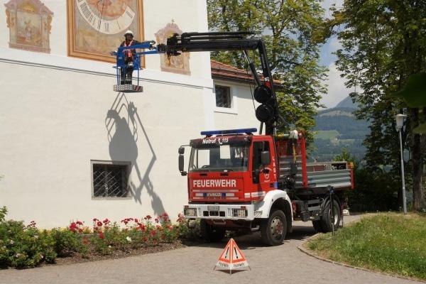 """Der """"Last"""", ein Lkw mit Hydraulikkran. Foto: Hegemann"""