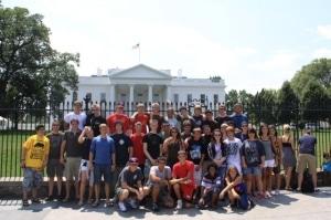 Gruppenfoto vor dem Weißen Haus. Foto: JF Stellingen