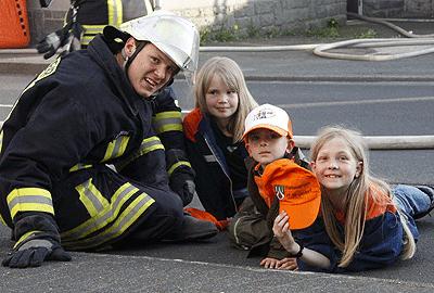 """Durch """"Bambini-Feuerwehr"""" sollen Nachwuchskräfte gewonnen werden. Foto: Huberty"""