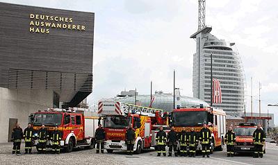 Bremerhaven wandelt sich. Die Feuerwehr muss sich anpassen. Foto: Klöpper