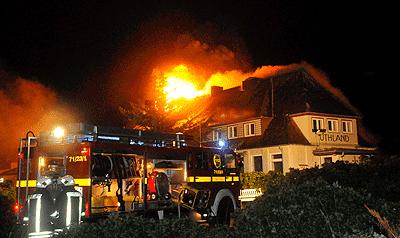 In fünf Nächten brannte es auf Sylt 20-mal. Foto: Sylt-Picture