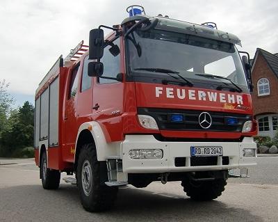 Das neue LF 10/6 auf Mercedes 1326 4x4 der FF Altenholz. Den Aufbau fertigte Ziegler. Foto: Rainer Kersten/Feuerwehr