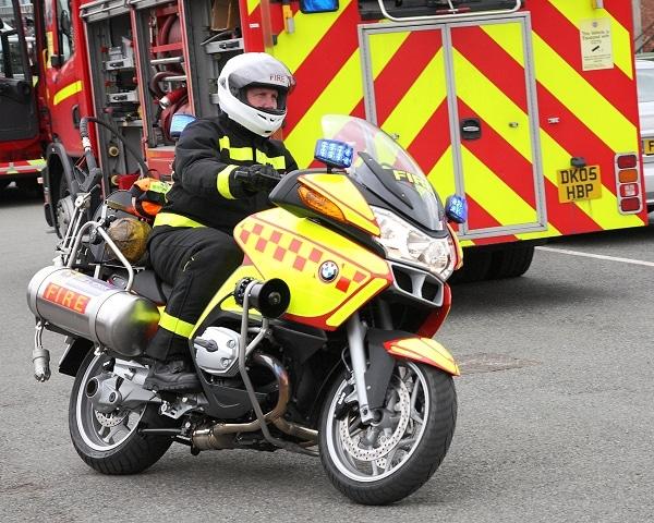 Eines der beiden BMW-Motorräder des MF&RS. Foto: Tony Thomas