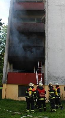 Wohnungsbrand in Stade. Foto: Polizei