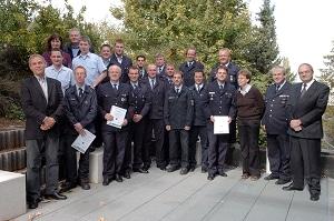 Zertifizierte Feuerwehrsport-Trainer. Foto: Unfallkasse