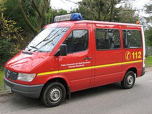 Das entwendete Mannschaftstransportfahrzeug aus Buxtehude. Foto: Polizei