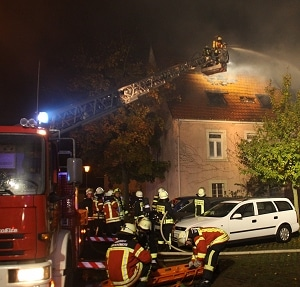 Tödlicher Brand in Kronau. Foto: Thomas Reiff/Feuerwehr