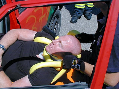 "Rettung mit der ""RescueBoa"". Foto: Minocom"