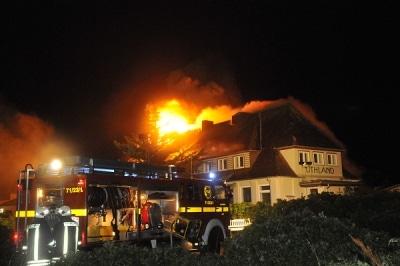 Brandnacht im August auf Sylt. Foto: Frenzel/ syltpicture