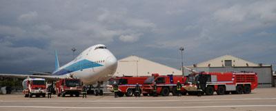 Werkfeuerwehr an Europas bedeutendstem Cargo-Flughafen. Foto: Foto: Schneider