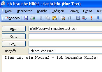 Notruf per eMail: Die Feuerwehr Dortmund erhielt tatsächlich den Hinweis auf eine Ölspur auf digitalem Weg. (Symbolfoto: FM)