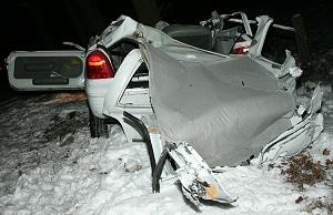 Renault Twingo völlig zerstört. Foto Vox