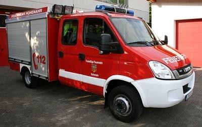 Ein neues TSF-W stellte die FF Altenkirchenin Dienst. Fahrgestell Iveco Daily, Aufbau Magirus. Foto: Stefan Schaub/Feuerwehr
