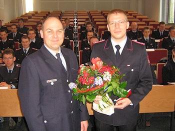 Carsten Prellberg begrüßt mit Michael Karheck als einen der ersten Teilnehmer an der neuen NABK. Foto: NABK