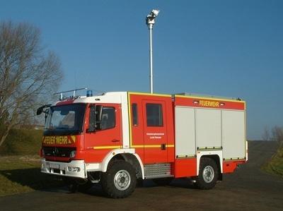 Eines der ersten LF 10/6 KatS für hessische Feuerwehren aus dem Hause Empl. Foto: Empl