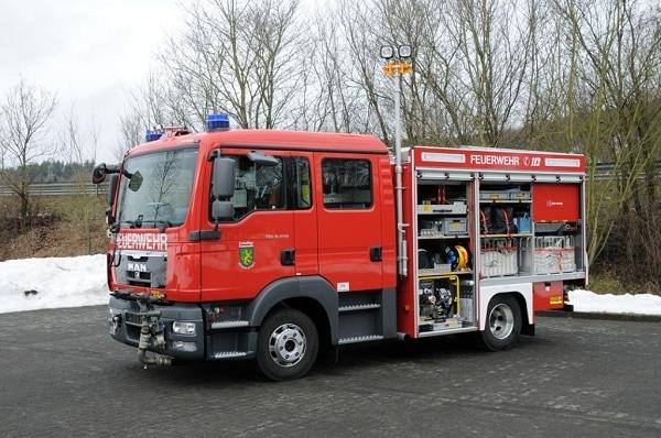Das neue StLF 10-6-OS der FF Rudolstadt stattete Gimaex mit einer One Seven-Druckluftschaumanlage aus. Aufgebaut ist es auf einem MAN TGL 8.220. Foto: Gimaex