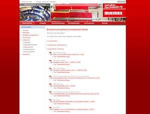 Auf seiner Website bietet Minimax zahlreiche offene Stellen an. Screenshot: FM