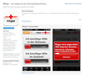 """Screenshot aus dem iTunes-Store: So wird die kostenlose App """"iRega"""" angeboten."""