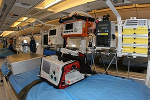 Fliegende Intensivstation - ausgerüstet wie eine Klinik. Foto: Stefan Gygas / Luftwaffe