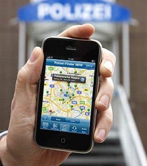 Direkter Draht zur Polizei auf dem Smartphone: Neue App der Polizei Nordrhein-Westfalen. Foto: Ministerium für Inneres und Kommunales NRW