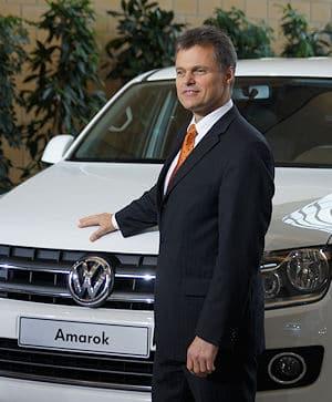 Dr. Wolfgang Schreiber, Sprecher des Markenvorstands Volkswagen Nutzfahrzeuge und zuständig für den Bereich Entwicklung vorm Amarok. Foto: Hegemann