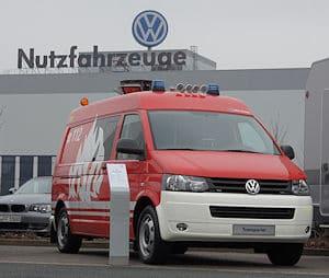Feuerwehrfahrzeug auf VW T5. Foto: Hegemann