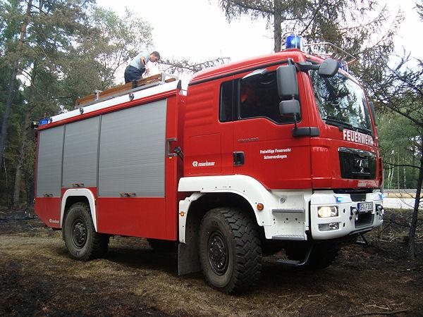 Die Bezeichnung TLF 4000 für die vormals als TLF 20/40 bezeichneten Fahrzeuge ist der Einführung des digitalen BOS-Funks geschuldet. Foto: Köhlbrandt