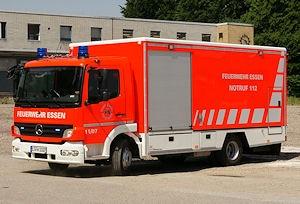 Löschrettungsfahrzeug (LRF) der Feuerwehr Essen. Foto: Hegemann