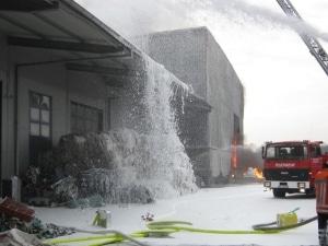 Großbrand in Sedelsberg (Saterland). Foto: Polizei