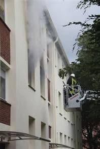 Tödlicher Brand in Bremen. Foto: Feuerwehr Bremen