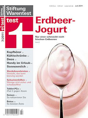 """Titelbild der Juli-Ausgabe von """"test"""". Foto: Stiftung Warentest"""